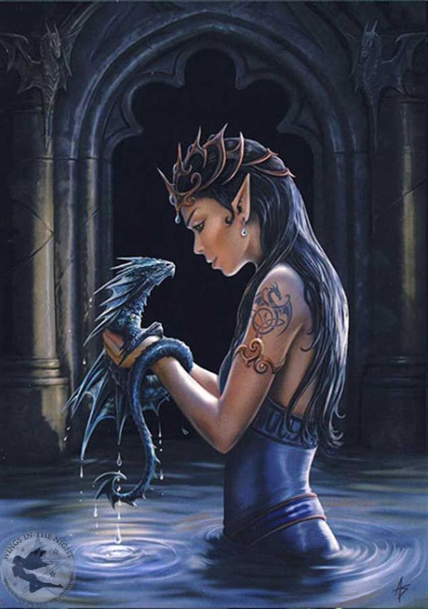 ANNE STOKES Water Dragon Mythical Greeting Card